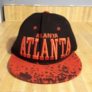 Black and Red ATL Snap Back